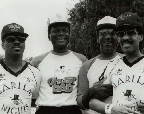 legends-Eddie Murphy, Sidney Poitier, Bill Cosby, and Richard Pryor-hanging-12